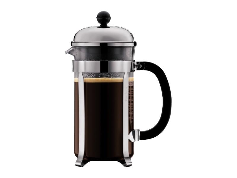 Cafetera 1lt 8 tazas Acero/Negro Chambord Bodum Goldsky