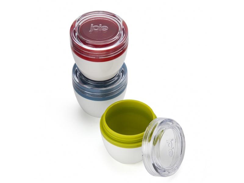Set 3 recipientes para condimentos colores surtidos Joie