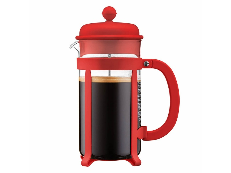 Cafetera 1Lt 8 Tazas Rojo Java Press Bodum Goldsky