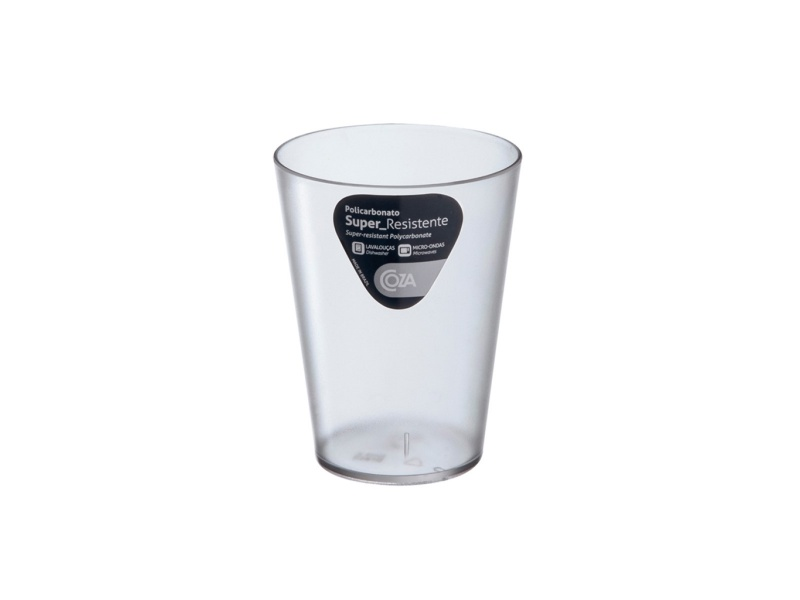 Vaso 300ml De Plástico Transparente Coza