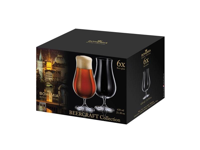 Copa De Cerveza Cristal 630 ml Set X6 BeerCraft Bohemia