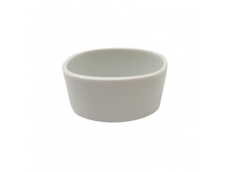 Ramequín Oval 6 cm Porcelana Blanca