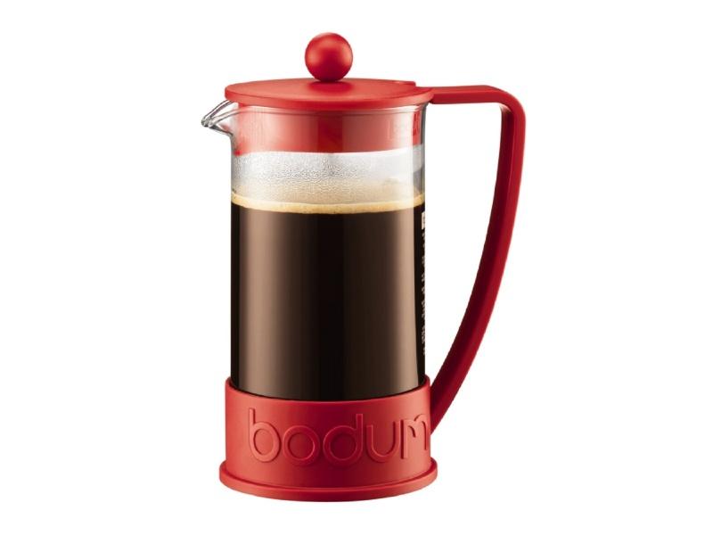 Cafetera 1L  8 Tazas Rojo Brazil Bodum
