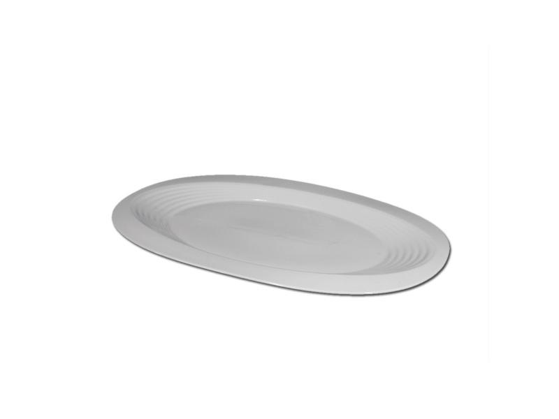 Fuente Oval Labrada 41 x 36 cm Cerámica Goldsky