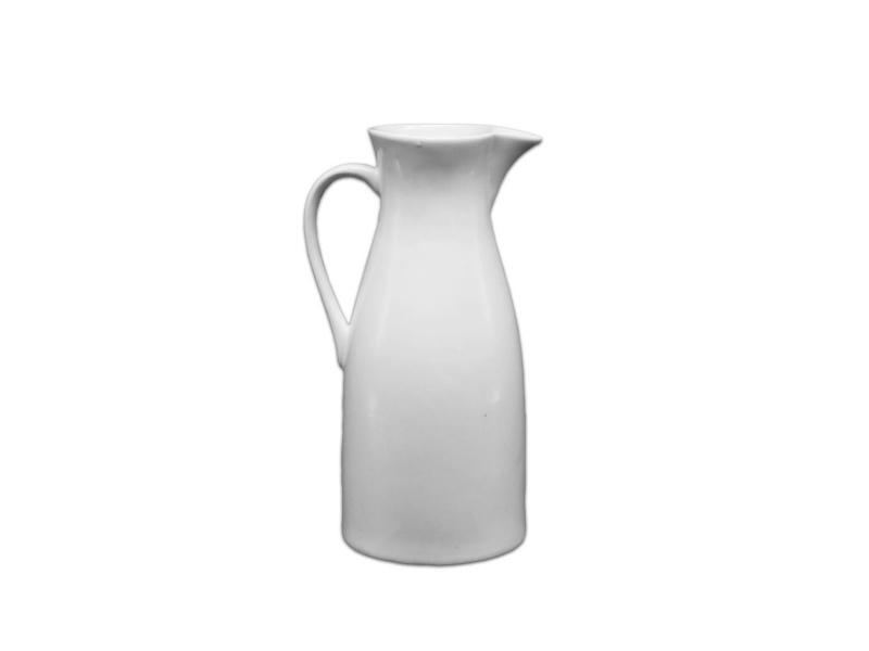 Jarra lechera cerámica blanca 17 x 5 x 8 cm Goldsky.