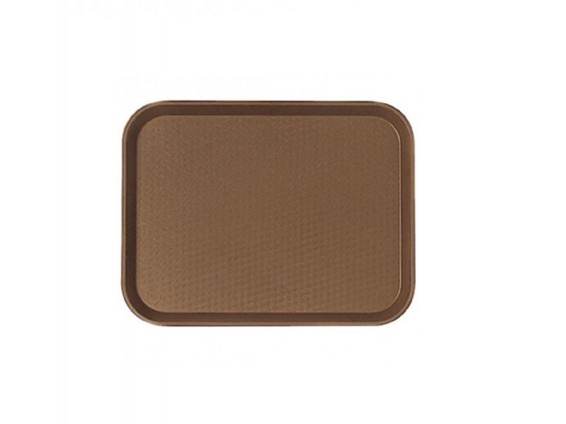 Bandeja Rectangular Plástica Marrón 41x30.2 cm