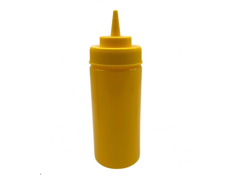 Pomo Recipiente Plástico Amarrillo 19 cm.