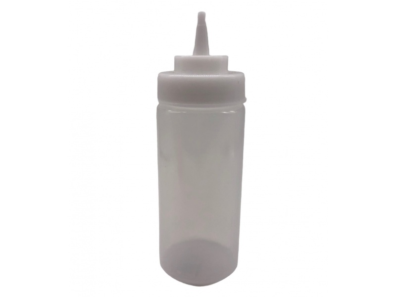 Pomo Recipiente Plástico Transparente 19 cm
