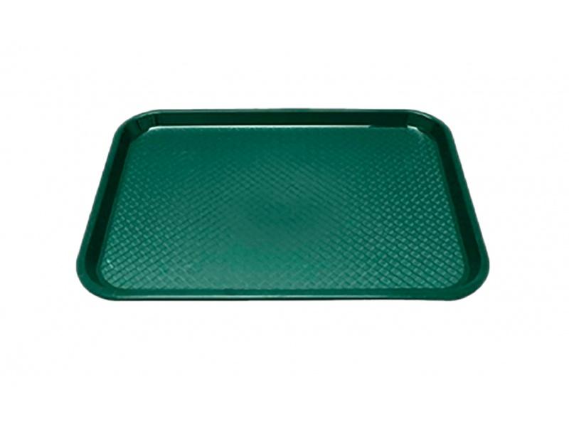Bandeja Rectangular Plástica Verde 41x30.2 cm