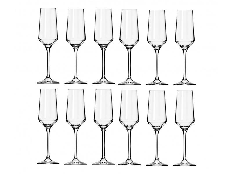 Copa Champagne 225 ml Vidrio Set x12 Brunello NF