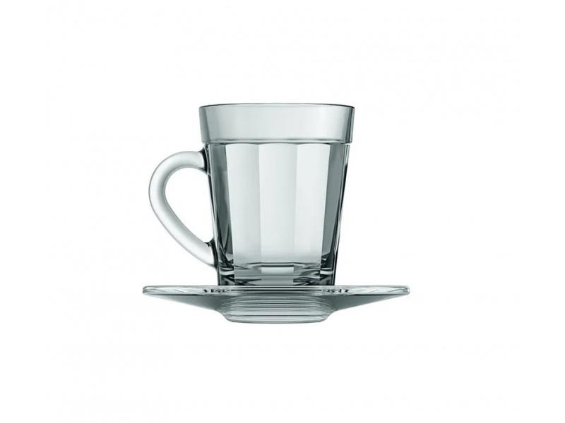 Taza de Café con Platillo 90 ml de Vidrio Americano Nadir Figueiredo