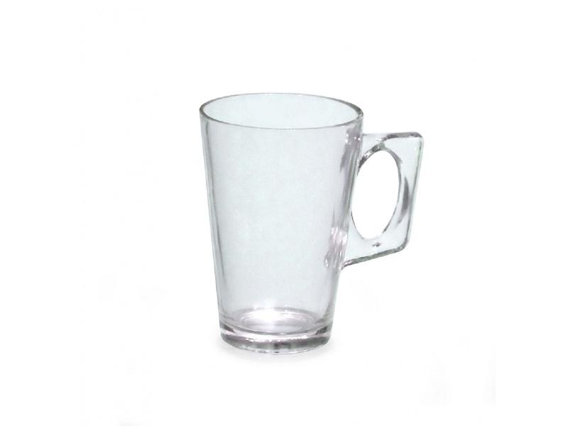 Taza mug de vidrio 230 ml Millenium