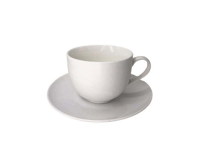 Taza de Té con plato 250 ml 8.5x6.5 cm Goldsky