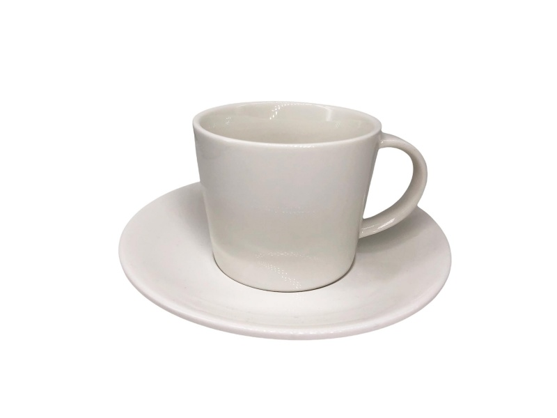 Taza de Té con plato 250 ml 8.5x7 cm Cerámica Goldsky