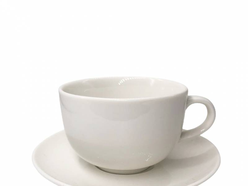 Taza de té con plato 250 ml 9x6 cm Cerámica Goldsky