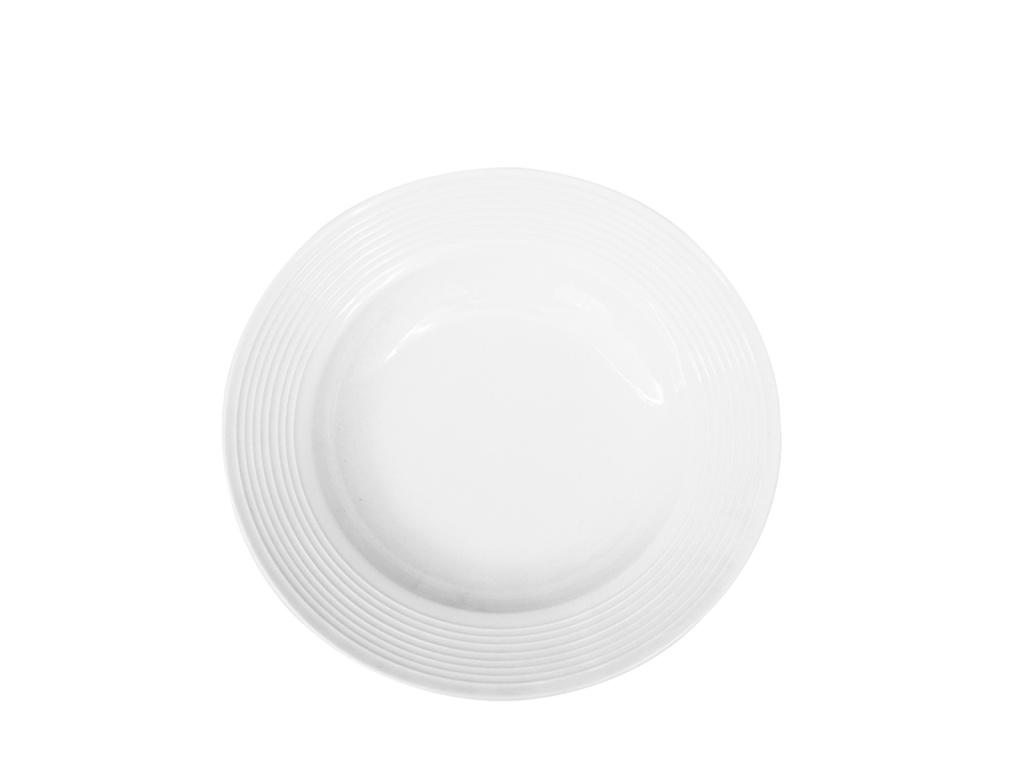 Plato hondo rallas y ala Ø 22 cm ceramica Goldsky