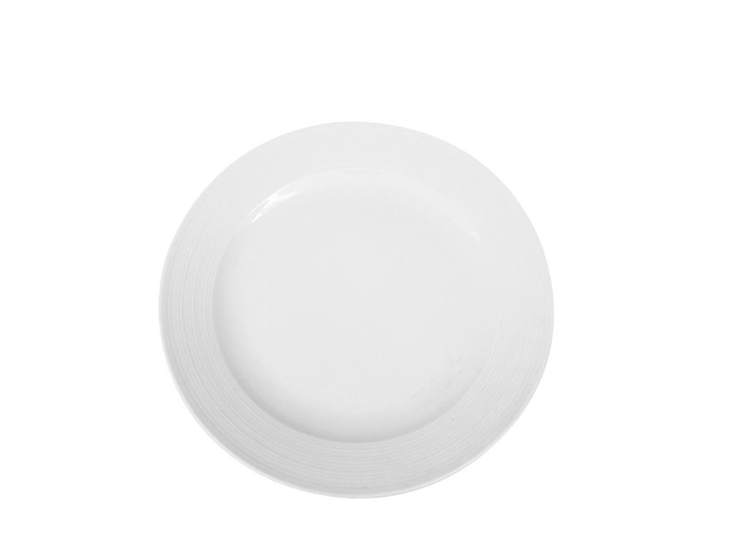 Plato llano rallas y ala Ø 27,5 cm ceramica Goldsky