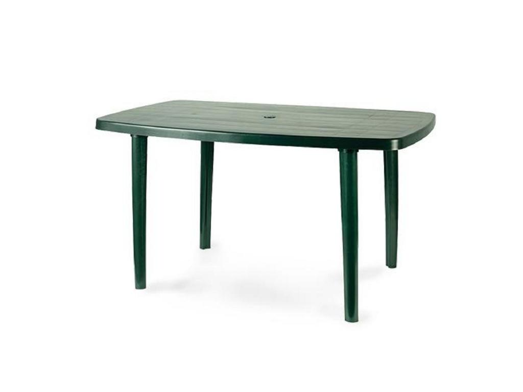 Mesa Plástica Ovalo Laja Verde 140 X 90 cm.