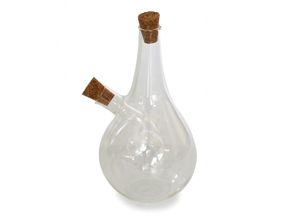 Aceitera vinagrera 2 en 1 con tapón de corcho Goldsky