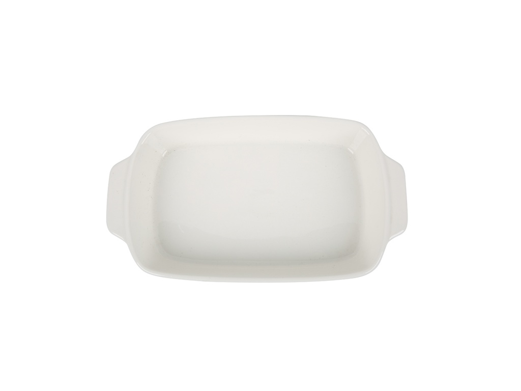 Fuente rectangular cerámica con asa 29 x 16 x 4 Cm