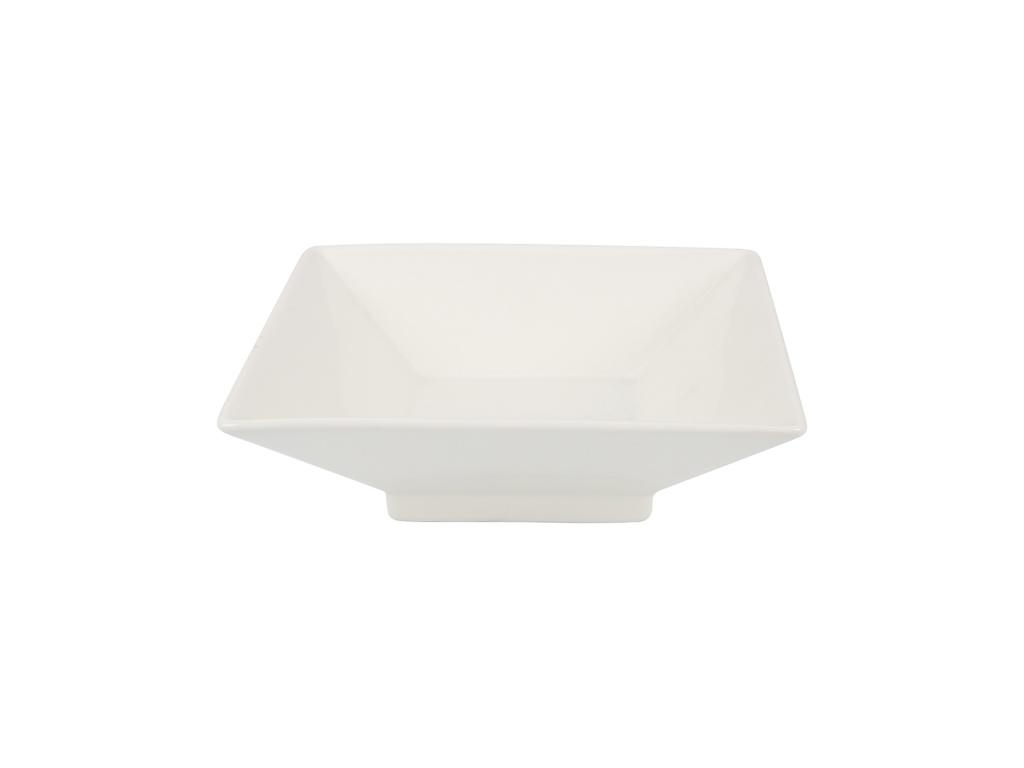 Bowl Cuadrado 21x7 cm Cerámica Blanca Goldsky