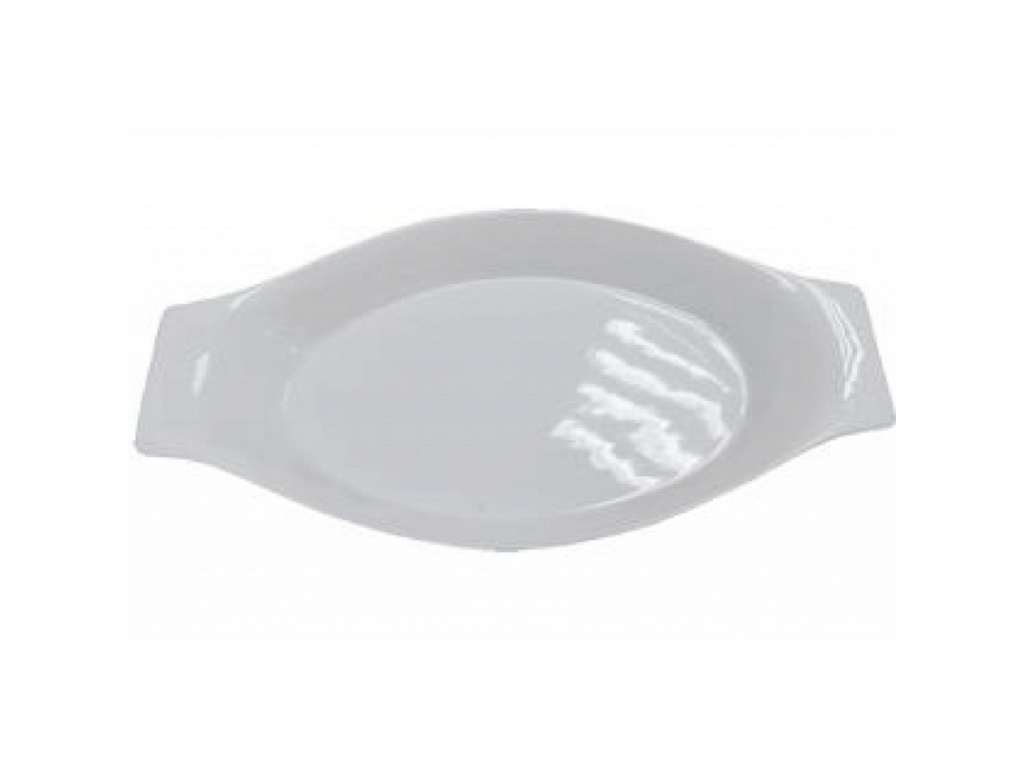 Fuente Oval Ceramica 31x17x4cm Con Asas Ceramica Goldsky